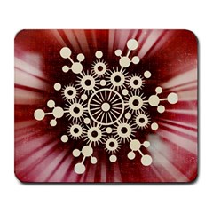 Background Star Red Abstract Large Mousepads