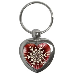 Background Star Red Abstract Key Chains (heart)