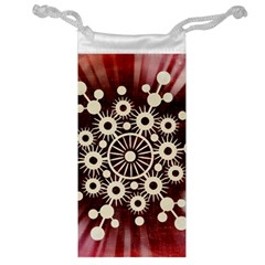 Background Star Red Abstract Jewelry Bag