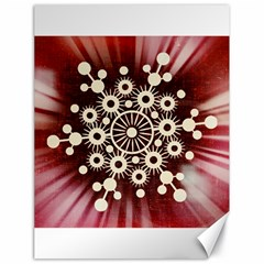 Background Star Red Abstract Canvas 18  X 24