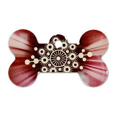 Background Star Red Abstract Dog Tag Bone (one Side)
