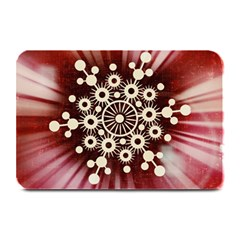 Background Star Red Abstract Plate Mats