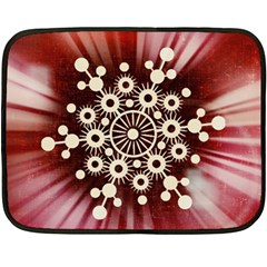 Background Star Red Abstract Fleece Blanket (mini)