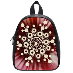 Background Star Red Abstract School Bag (small)