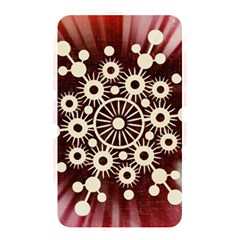 Background Star Red Abstract Memory Card Reader