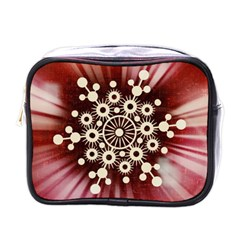Background Star Red Abstract Mini Toiletries Bags