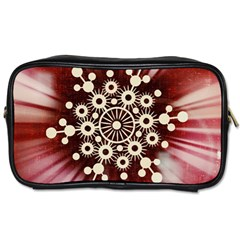 Background Star Red Abstract Toiletries Bags 2 Side