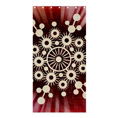 Background Star Red Abstract Shower Curtain 36  X 72  (stall)