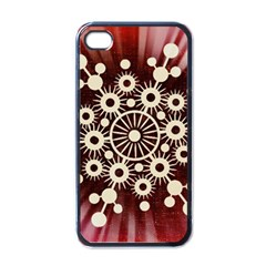 Background Star Red Abstract Apple Iphone 4 Case (black)