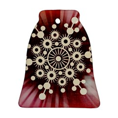 Background Star Red Abstract Bell Ornament (two Sides)