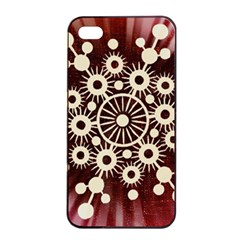 Background Star Red Abstract Apple Iphone 4/4s Seamless Case (black)