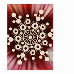 Background Star Red Abstract Small Garden Flag (two Sides)
