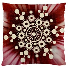 Background Star Red Abstract Large Cushion Case (two Sides)