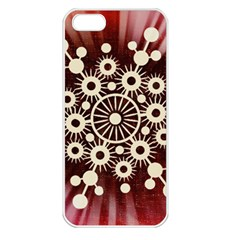 Background Star Red Abstract Apple Iphone 5 Seamless Case (white)