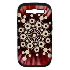 Background Star Red Abstract Samsung Galaxy S Iii Hardshell Case (pc+silicone)