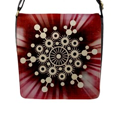 Background Star Red Abstract Flap Messenger Bag (l)