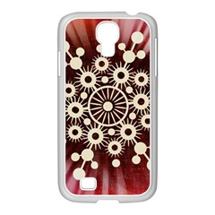 Background Star Red Abstract Samsung Galaxy S4 I9500/ I9505 Case (white)