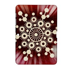Background Star Red Abstract Samsung Galaxy Tab 2 (10 1 ) P5100 Hardshell Case