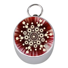 Background Star Red Abstract Mini Silver Compasses