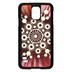 Background Star Red Abstract Samsung Galaxy S5 Case (black)