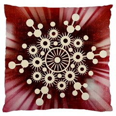 Background Star Red Abstract Standard Flano Cushion Case (two Sides)