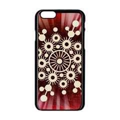 Background Star Red Abstract Apple Iphone 6/6s Black Enamel Case