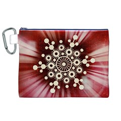 Background Star Red Abstract Canvas Cosmetic Bag (xl)
