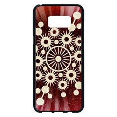 Background Star Red Abstract Samsung Galaxy S8 Plus Black Seamless Case