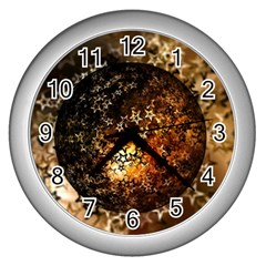 Christmas Bauble Ball About Star Wall Clocks (silver)