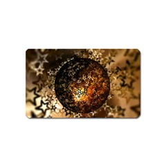 Christmas Bauble Ball About Star Magnet (name Card)