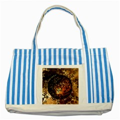 Christmas Bauble Ball About Star Striped Blue Tote Bag