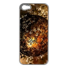 Christmas Bauble Ball About Star Apple Iphone 5 Case (silver)