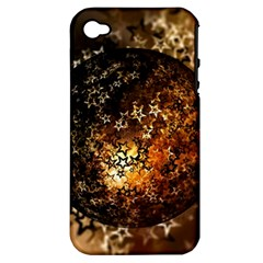 Christmas Bauble Ball About Star Apple Iphone 4/4s Hardshell Case (pc+silicone)