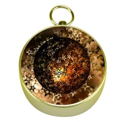 Christmas Bauble Ball About Star Gold Compasses