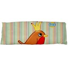 Bird Christmas Card Blue Modern Body Pillow Case (dakimakura)