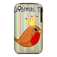 Bird Christmas Card Blue Modern Iphone 3s/3gs