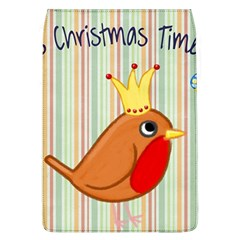 Bird Christmas Card Blue Modern Flap Covers (l)