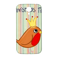 Bird Christmas Card Blue Modern Samsung Galaxy S4 I9500/i9505  Hardshell Back Case