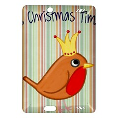 Bird Christmas Card Blue Modern Amazon Kindle Fire Hd (2013) Hardshell Case