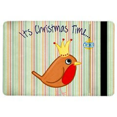 Bird Christmas Card Blue Modern Ipad Air 2 Flip