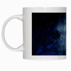 Winter Wintry Moon Christmas Snow White Mugs