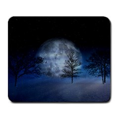 Winter Wintry Moon Christmas Snow Large Mousepads