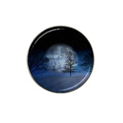 Winter Wintry Moon Christmas Snow Hat Clip Ball Marker (10 Pack)