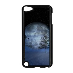 Winter Wintry Moon Christmas Snow Apple Ipod Touch 5 Case (black)