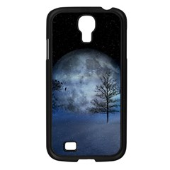 Winter Wintry Moon Christmas Snow Samsung Galaxy S4 I9500/ I9505 Case (black)
