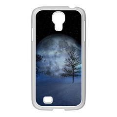 Winter Wintry Moon Christmas Snow Samsung Galaxy S4 I9500/ I9505 Case (white)