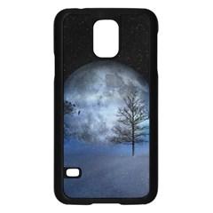 Winter Wintry Moon Christmas Snow Samsung Galaxy S5 Case (black)
