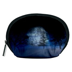 Winter Wintry Moon Christmas Snow Accessory Pouches (medium)