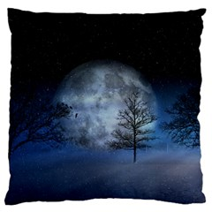 Winter Wintry Moon Christmas Snow Standard Flano Cushion Case (one Side)