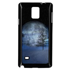 Winter Wintry Moon Christmas Snow Samsung Galaxy Note 4 Case (black)